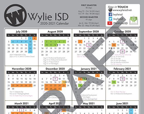 Wylie Isd Calendar 2021 Headlines & Features