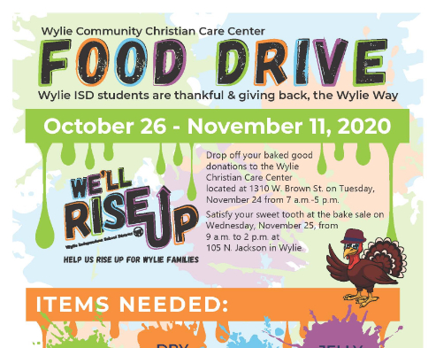 Christian Care Center Food Drive