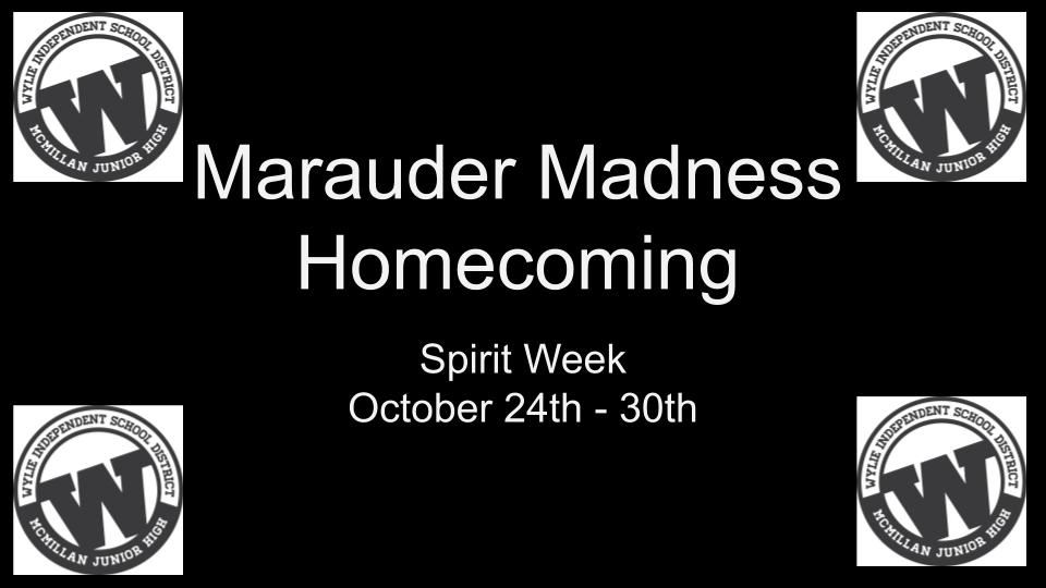Marauder Madness Spirit Week