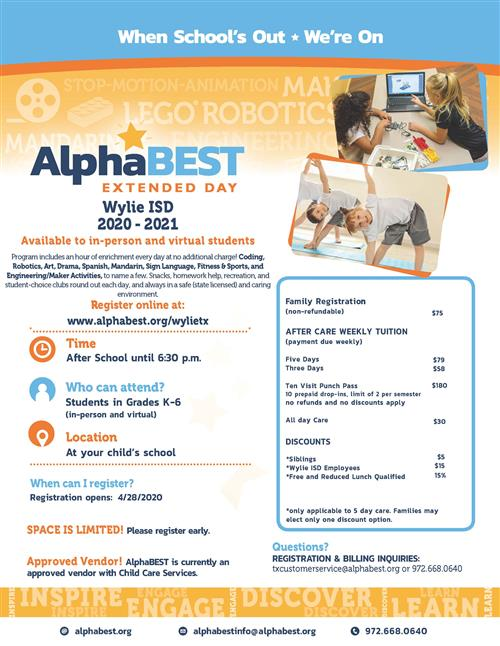 AlphaBest Program Information
