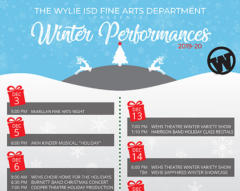 Wylie ISD Fine Arts Department Winter Performances