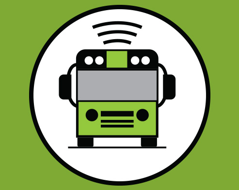 Here Comes the Bus Logo Icon
