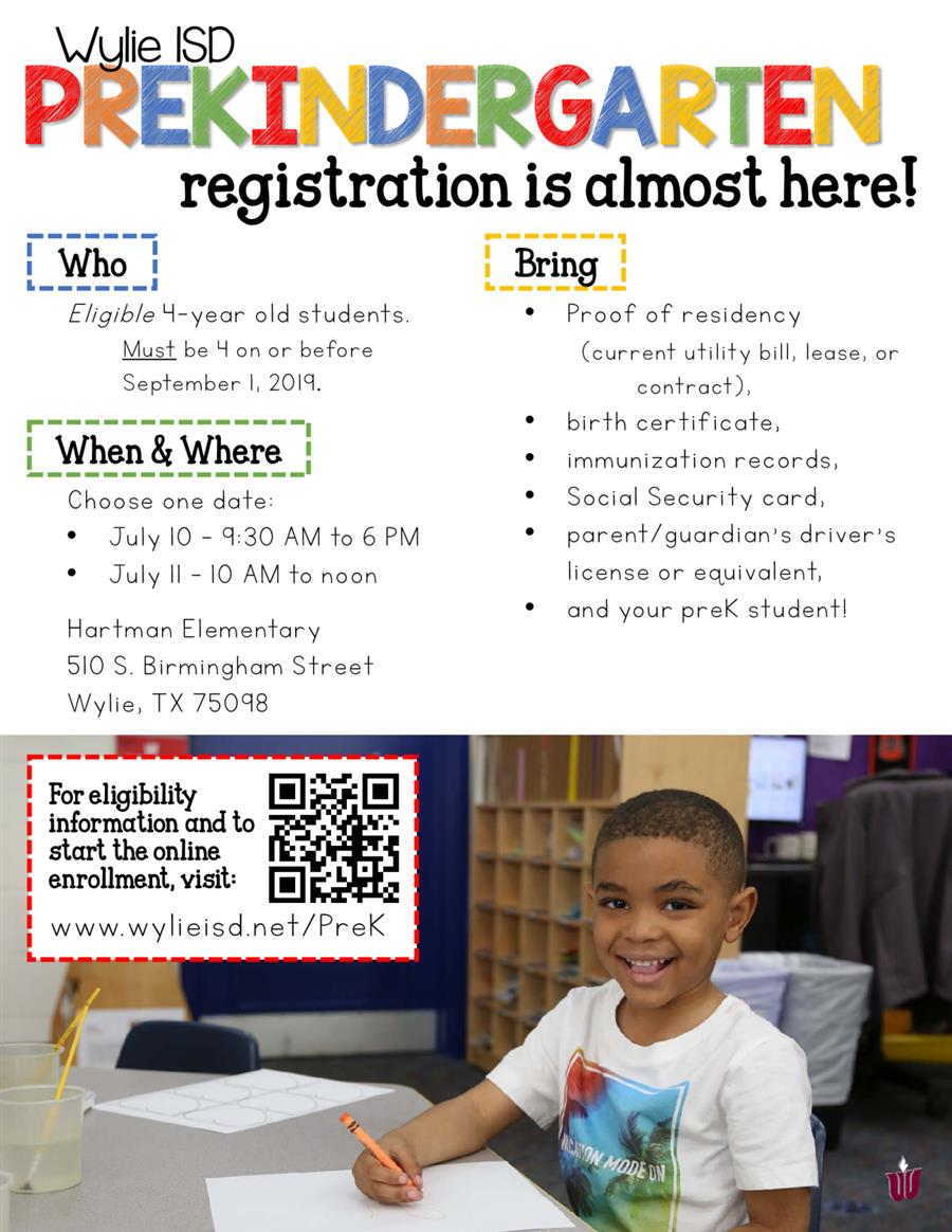PreKindergarten Registration