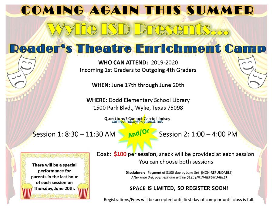 Reader's Theatre Enrichment Camp