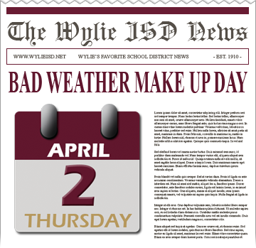 Bad Weather Make Up Day