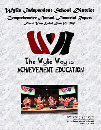 Wylie ISD 2015 CAFR Cover